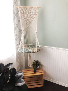 Macrame wall art and plant hangers by MerakiKnotShop Macrame Design, Macrame Art, Macrame Projects, Diy Cat Hammock, Cat Room, Macrame Plant Hangers, Macrame Patterns, Diy Room Decor, Home Decor