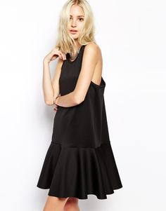weekday dropped waist pleated dress