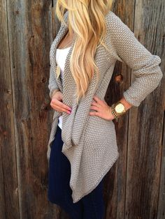 Fall in love with this fall! The Unlined Cardigan is made in comfy and soft acrylic and features cascading front hem,long sleeves and unlined design. Find more amazing cardigan at CUPSHE,COM :-)