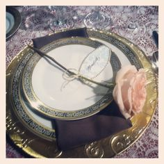 vintage & romantic place setting - designed by Simply Events