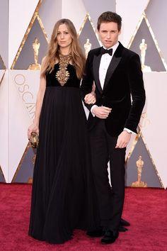 Eddie Redmayne and Hannah Bagshawe - both wearing Alexander McQueen - Oscars 2016