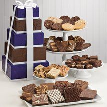 Majestic Tower | Fairytale Gourmet Brownie and Cookie Gift Baskets Delivered