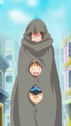 Ace,Luffy,Sabo oh my Myyyy. One Piece Anime, Ace One Piece, One Piece Seasons, One Piece World, One Piece Fanart, One Piece Luffy, Anime One, Manga Anime, Mugiwara No Luffy