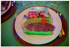custom tropical themed dinner menu