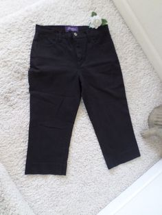 NOT YOUR DAUGHTER'S JEANS CAPRI 8P~NYDJ LIFT TUCK RELAXED FIT CROP 8P~95%NEW #NotYourDaughtersJeans #CapriCropped