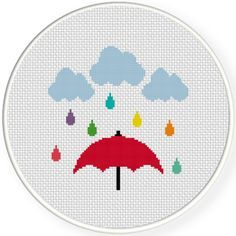 FREE for August 12th 2015 Only - Colorful Rain Cross Stitch Pattern
