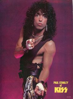Paul Stanley Pinup clipping 80's Sexy Kiss | eBay