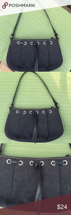 "Dooney & Bourke Black Initial Bag Dooney & Bourke, Black initial Bag, zippered closure, zippered pocket on interior, fully lined, strap drop 9"", width and 11"", height 6"". Dooney & Bourke Bags Shoulder Bags"