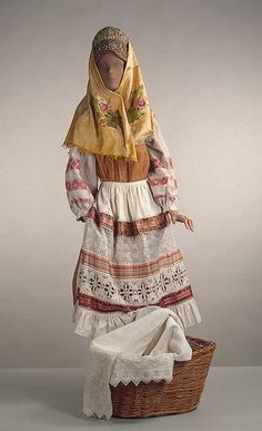 Vologda Province peasant costume via The Hermitage Museum