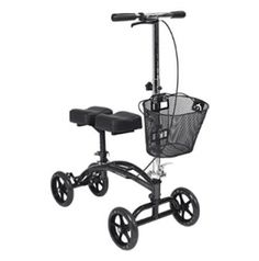 The Dual Pad Steerable Knee Walker with Basket from Drive is a simple, comfortable, durable, and pain-free crutch alternative. Unlike other knee walkers that offer only forward-facing front wheels, Drive's Steerable Knee Walker features a fully maneuverab Knee Scooter, Electric Scooter For Kids, Broken Foot, Mobility Aids, Mobility Scooters, Crutches, Sprain, Medical Equipment, Adaptive Equipment