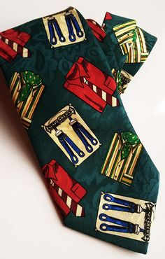 Vintage polyester tie green