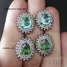 Brinco Em Prata 925 Cravejado Com Zirconias  #brincos #earrings #semijoias #bijuterias #acessorios