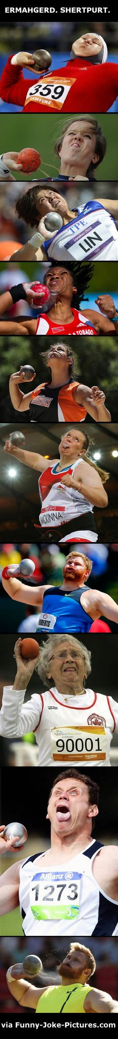Funny shot put collection