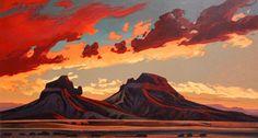 """Ed Mell's """"Volcanic desert."""""""
