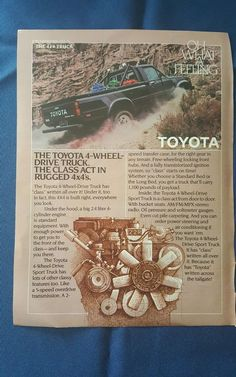 vintage toyota truck advertisement