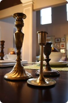 1000 Images About Spray Painted Brass Candle Holders On