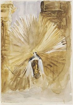 St. Teresa of Avila painting by John Singer Sargent-St. Teresa is a Doctor of the Church, a great mystic, and a trustworthy guide to learning prayer. She has a mother's heart and concern for everyone who comes to her.