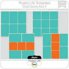 Project Life Templates Small Variety Pack 4 with 4x4 photos