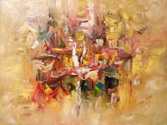 oil painting art abstract impressionist original by mattsart, $275.00