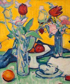 Tulips and Cups, c. 1912 by Samuel John Peploe (1871–1935)
