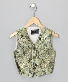 Gold Faux Tapestry Vest - Boys by Lida - ***given the nature of zulily.com - this may no longer be available - but worth a look