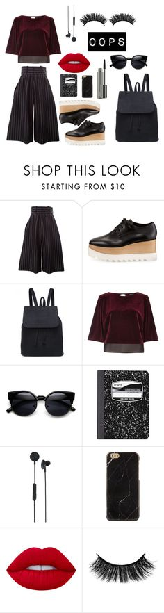 """Untitled #5"" by itspomps ❤ liked on Polyvore featuring J.W. Anderson, STELLA McCARTNEY, River Island, Mead, I.Am+ Eps, Lime Crime and MAC Cosmetics"