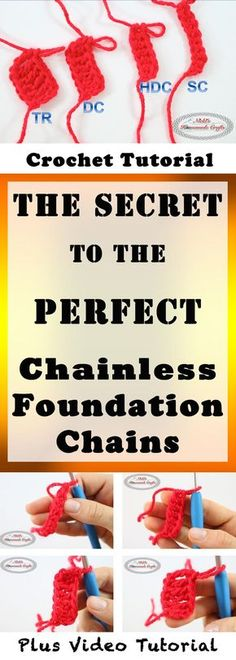 The Secret to the Perfect Chainless Foundation Crochet Stitch - Crochet Tutorial by Nicki's Homemade Crafts.