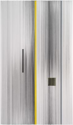 notations 04  2014 graphite & colored pencil on mat board 59 by 34 inches