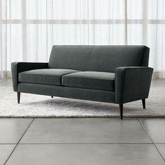 Torino Velvet 2-Seat Apartment Sofa - Crate and Barrel