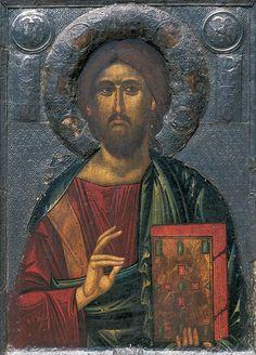 Christ the Teacher. Monastery of St Clement. Religious Images, Religious Icons, Religious Art, Byzantine Icons, Byzantine Art, Anima Christi, Christ Pantocrator, Orthodox Icons, Expo