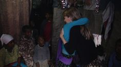 Beth hugging Zinet during the filming of Mother: Caring for 7 Billion