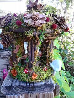 Fairy Garden Gazebo by SunlightCottage on Etsy, $20.00