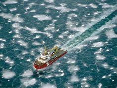 icebreaker in lake superior's thunder bay