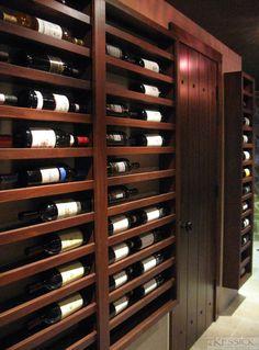 Wine racks and cellar design by Kessick Wine Cellars Wine Rack Wall, Wine Wall, Wine Racks, Under Stairs Wine Cellar, Wine Storage Cabinets, Home Wine Cellars, Mod Furniture, Cellar Design, Wine Display