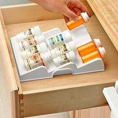 Pill bottle organizer for my bathroom or kitchen