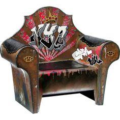 Street Art-Inspired Furniture: Graffiti-Embellished Cupboards