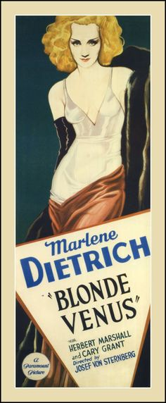 Blonde Venus, 1932 ... Brilliant how the black gloves make Marlene Dietrich look like the Venus de Milo !