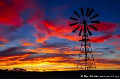 Windmill at Sunset in Australian Outback, Sturt National Park, New South Wales (NSW), Australia. Magnificent stock photo of the dramatic clouds highlighted by sunset over windmill in Australian Outback in Sturt National Park, NSW. By Ilya Genkin. Color Photography, Photography Tutorials, Landscape Photography, Nature Photography, Travel Photography, Outback Australia, Australia Travel, South Wales, Cgi
