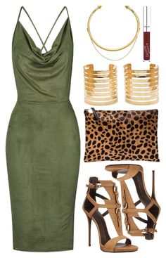 """LAX"" by kimeechanga ❤ liked on Polyvore featuring Rare London, Clare V., Giuseppe Zanotti and OBEY Clothing"