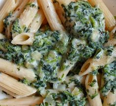 Happier Than A Pig In Mud: Creamed Spinach for Pasta