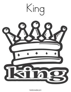 King Coloring Page - Twisty Noodle