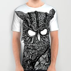 Demon Owl All Over Print Shirt
