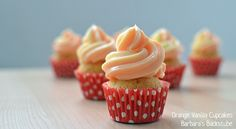 Barbara's Backstube: Orange Vanilla Cupcakes
