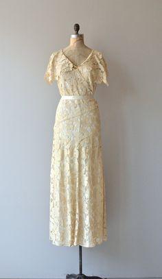 Adagietto lace gown 1930s lace wedding dress by DearGolden