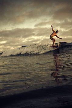 Surf, local, clouds, surfboard, waves, ocean, sea