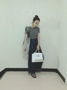 minaでいっつもお世話になっている スタイリストの村田さんからのお誕生日プレゼントの トップスを着