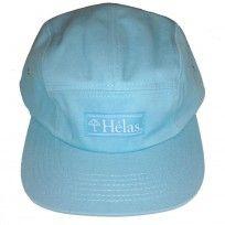 Helas CapOne aqua blue 5 panel cap.
