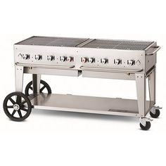 Crown Verity Natural Gas Portable Outdoor BBQ Grill / Charbroiler with Wind Guard Package Grill Grates, Bbq Grill, Grilling, Campfire Grill, Portable Grill, Stainless Steel Grill, Cooking Temperatures, Cooking Equipment, Commercial Kitchen