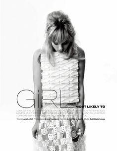 Suki Waterhouse by David Vasiljevic for Elle UK January 2014]