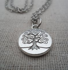 Tree Necklace Tree of Life Silver Necklace Tree Jewelry Simple Everyday Silver Jewelry. $12.00, via Etsy.